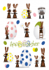 HERMA Oster-Sticker TREND ´Hasenparty´