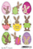 HERMA Oster-Sticker MAGIC TREND ´Osterhasen´