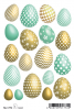 HERMA Oster-Sticker MAGIC TREND ´Goldeier´, Jewel