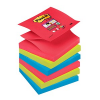 6x Post-it® Super Sticky Bora-Bora Haftnotizen R3306SJ farbsortiert
