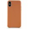 KMP Leder Case Handy-Cover für Apple iPhone X, Apple iPhone XS braun
